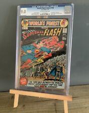DC Comics Worlds Finest #198 Graded CGC 9.0 1970 3rd Superman Vs Flash Race
