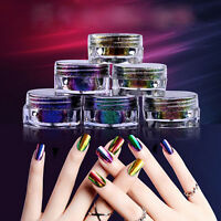 6 Color Chameleon Mirror Powder Color-changing Nail Art Pigment Glitter 0.2g