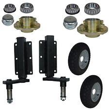 """350kg Trailer Suspension Unit (Pair) & Cast Wheel Hubs & 3.50 - 8 Wheels 4"""" PCD"""