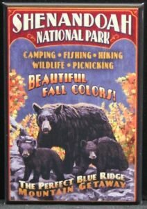 "Shenandoah National Park Poster 2"" X 3"" Fridge Magnet. Blue Ridge Mts. Virginia"