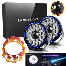 "2pcs 9"" Projector Laser Spot Driving w/ DRL LED Fog Lights Offroad 4X4 Truck 12V"