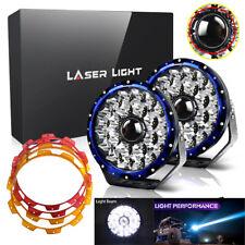 "2pcs 9"" Projector Laser Spot Driving w/ DRL LED Fog Lights Offroad 4X4 Truck 12V"
