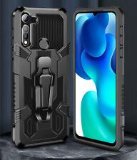 Military Armor Metal Clip Holder Case For Motorola G8 Pwer Plus E6S One Hyper E7