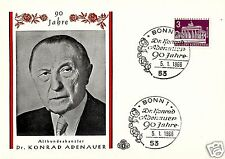 BERLIN, 90th. ANNIV. CHANCELLOR KONRAD ADENAUER SPECIAL CARD, YEAR 1966