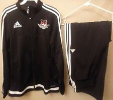 Adidas Chicago Fire FC Warm Up Track Suit Jacket & Pants Black/White Size S