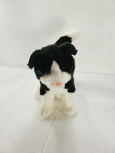 "Douglas Black and White Standing Cat Plush 9"" Stuffed Animal Toy"