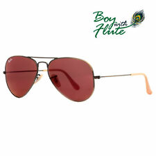 Ray-Ban RB 3025 167/2K 58mm Brushed Bronze Red Mirror Flash Aviator Sunglasses