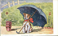 Louis Wain Dog. His Summer Holiday in Faulner Series 320 D. Unsigned.