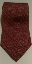 Saks Fifth Avenue Red gold Blue belt Geometric Classic Silk Mens Neck Tie