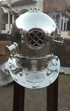 "Morse US Navy Mark V Diving Divers Helmet Solid Steel Full Size 18"" Vintage AQW3"