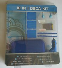 NEW Blue 10 Piece Deca Accessory kit for Nintendo DSi Case Car Charger Earphone