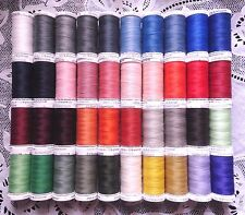 40 NEW different colors GUTERMANN 100% polyester sew-all thread 274 yard Spools