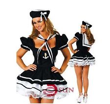 New Women Sexy Lingerie Fancy Dress Navy Sailor Costume Cosplay Halloween COS33