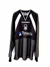 Nottingham Forest Goal Keepers Shirt 1997. Medium. Umbro Black Adults M Top Only