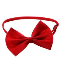 Cat Adjustable Collar pet bow tie Pet Dog Necktie Bow Tie Puppy Accessory  W4E3