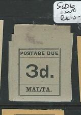 MALTA  (P1807B) POSTAGE DUE 3D  SG D6  MNH