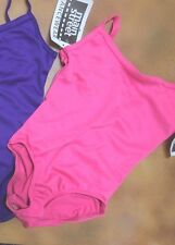 Camisole Leotard Dance Front Lined Neons & Purple v back over 200 available NWT
