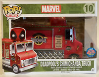 Funko Pop Rides Marvel Deadpool Red Chimichanga Truck NYCC Exclusive W/ Protecto