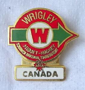 1970´s WRIGLEY National Midget HOCKEY Tournament PIN Badge Canada CAHA