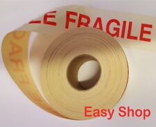 More details for 50 x 152 mm printed red fragile parcel postal mail sticker label self adhesive