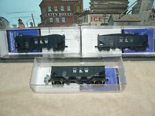 Broadway Limited HO N&W H2a 3-Bay Hopper Cars set of 3b