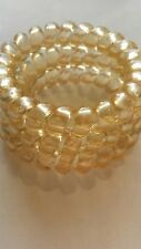 Thick Spiral Plastic Large Blonde Hair band Hairband Bobble  x3