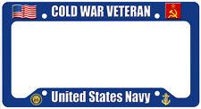 Cold War US Navy Veteran License Plate Frame