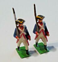 Vintage Metal Toy Soldiers American Revolution Minute Men w Musket Lot of 2 7738
