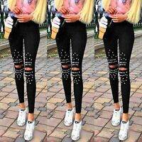 Sexy Women Casual High Waist Slim Skinny Pants Stretch Leggings Pencil Trousers