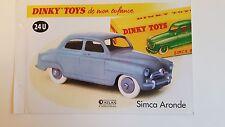 Dinky Toys Atlas - Fascicule SEUL de la Simca 9 Aronde (Booklet only)