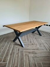 Large Solid Oak Farmhouse Dining Table 6 foot by 3 foot