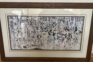 Bev Doolittle WOODLAND ENCOUNTER Matted & Framed Art Print