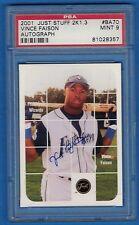 2001 Just Stuff 2K1.3 Autographs #BA70 Vince Faison PSA 9 357 Ft. Wayne Wizards