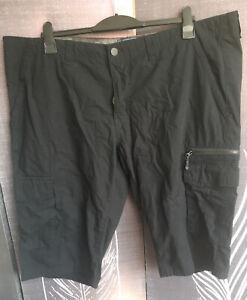 FF Mens Shorts W44 Black Cargo Style Zipper Fly Regular Fit Pockets