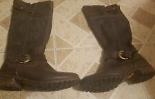 Timberland Womens Bethel Heights Tall Boots Dark Brown Sz 7 W Reg Ret $200