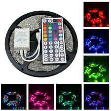 5M 3528 RGB Non Waterproof Strip 300 SMD LED Light + 44Key IR Remote Controller