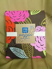 Pottery Barn Teen Chloe Floral Organic Bed Dorm Duvet Cover Full Queen FQ Pink
