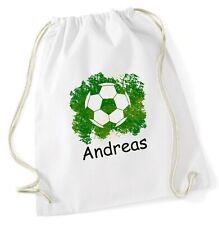 Fußball Turnbeutel mit Wunschnamen für die Schule Geschenkidee Sportbeutel Ball