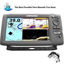 Lowrance HOOK-9 Fishfinder/GPS: 83/200/455/800 HDI Transducer DownScan Imaging™