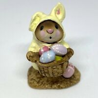 Wee Forest Folk M-82 Yellow Easter Bunny Mouse RETIRED