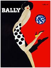 "20x30"" CANVAS Decor.Room art print.Bally fashion girl.Polka dress.Red.6022"