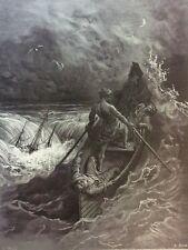 Gustave Doré Anciens Marins 1876 XIX ème Marine Marin Naufrage le pilote