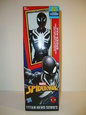 "MARVEL SPIDERMAN BLACK SUIT SPIDERMAN 12"" ACTION FIGURE TITAN HERO SERIES NEW"