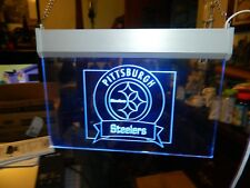 Pittsburgh Steelers Acrylic Hanging Sign, Blue Light