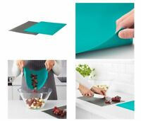 2 Flexible Chopping Mats Thin Non Slip Board Mat Set Kitchen Food Cutting Large