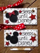 Disney countdown holiday plaque chalkboardMinnie or Mickey