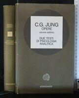 OPERE. Due testi di psicologia analitica. Volume VII. Jung. Boringhieri.