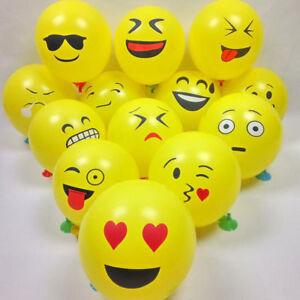10Pcs Latex Cute Emoji Face Balloons For Festival Birthday Party Xmas Decoration