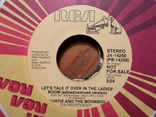 PROMO RCA 45 RECORD/CURTIE AND THE BOOMBOX/LET'S TALK IT OVER IN THE LADIES ROOM