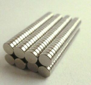 200 Rare Earth Magnet 3mm x 2mm Round Neodymium N50 Strong Powerful Small Disc
